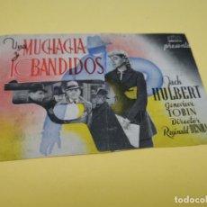 Cine: PROGRAMA DE MANO ORIG - UNA MUCHACHA Y 10 BANDIDOS- PUBLICIDAD DE SEVILLA. Lote 210460606