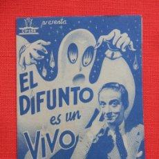 Cine: EL DIFUNTO ES UN VIVO, IMPECABLE DOBLE COLOR AZUL, ANTONIO VICO, CINE ESPAÑA BERGA. Lote 210477901