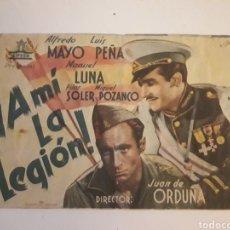 Cine: A MI LA LEGIÓN. JUAN ORDUNÑA. 1942 CASINO CINEMA. Lote 210478103