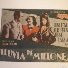 Cine: LLUVIA DE MILLONES. PRODUCCIÓN DURO FILMS. TEATRO VICTORIA EUGENIA. Lote 210478942