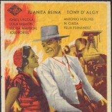 Cine: PROGRAMA SENCILLO DE LA BLANCA PALOMA (1942) - CINEMA IBORRA DE LLUCENA. Lote 210480355