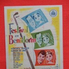 Cine: FESTIVAL EN BENIDORM, IMPECABLE SENCILLO, CONCHITA VELASCO, C/P S. NOVEDADES. Lote 210480426