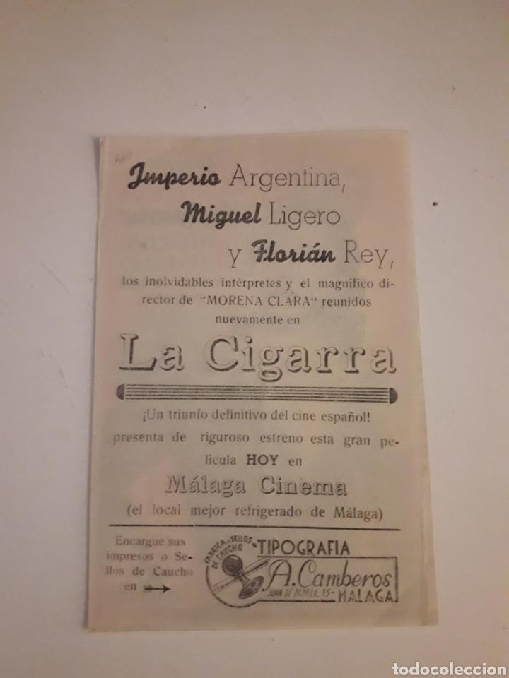 Cine: Imperio Argentina. La Cigarra. - Foto 2 - 210480586