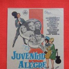 Cine: JUVENTUD ALEGRE Y LOCA, IMPECABLE SENCILLO,DANY SAVAL, C/P CINE AVENIDA 1965. Lote 210481667