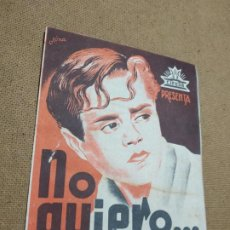 Cine: PROGRAMA DE CINE DOBLE. NO QUIERO...NO QUIERO.. Lote 210484466