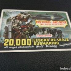 Cine: PROGRAMA DE MANO ORIG - 20000 LEGUAS DE VIAJE SUBMARINO - CINES ALEXANDRA Y ATLANTA. Lote 210485293