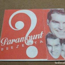 Cine: PROGRAMA DE CINE DOBLE. HOMBRES SIN NOMBRE. CINE AL DORSO. 1939.. Lote 210486590