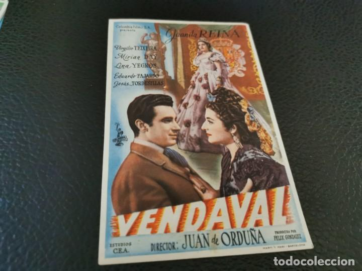 PROGRAMA DE MANO ORIG - VENDAVAL - CINE SOCIEDAD LA PRINCIPAL (Cine - Folletos de Mano - Clásico Español)