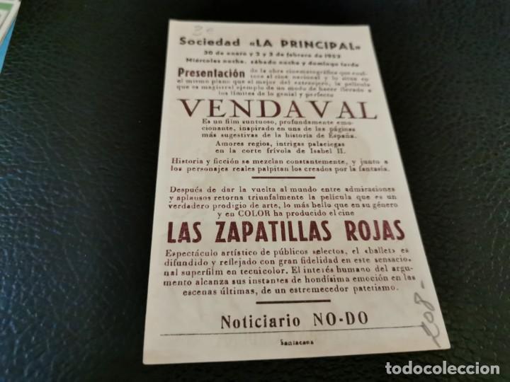 Cine: PROGRAMA DE MANO ORIG - VENDAVAL - CINE SOCIEDAD LA PRINCIPAL - Foto 2 - 210486767