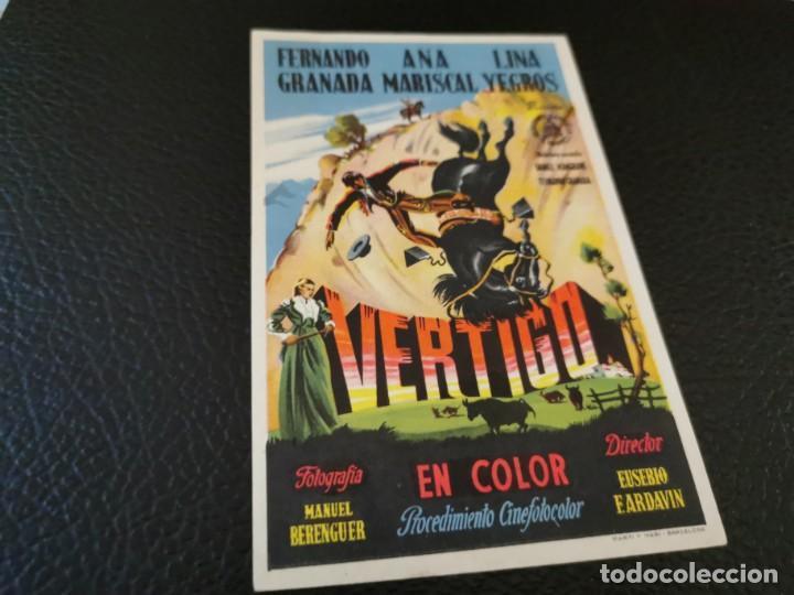PROGRAMA DE MANO ORIG - VERTIGO - CINE GRAN CINEMA (Cine - Folletos de Mano - Clásico Español)