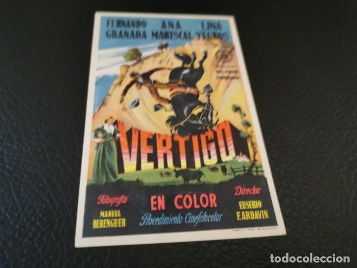 PROGRAMA DE MANO ORIG - VERTIGO - CINE SOCIEDAD LA PRINCIPAL (Cine - Folletos de Mano - Clásico Español)