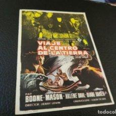 Cine: PROGRAMA DE MANO ORIG - VIAJE AL CENTRO DE LA TIERRA- CINE DE ALCOVER. Lote 210488623
