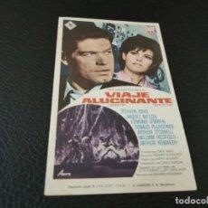 Cine: PROGRAMA DE MANO ORIG - VIAJE ALUCINANTE - CINES BOHEMIO Y GALILEO. Lote 210488966