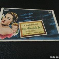 Folhetos de mão de filmes antigos de cinema: PROGRAMA DE MANO ORIG - VIDA ÍNTIMA DE JULIA MORRIS- CINE DE PEDREGUER. Lote 210489306