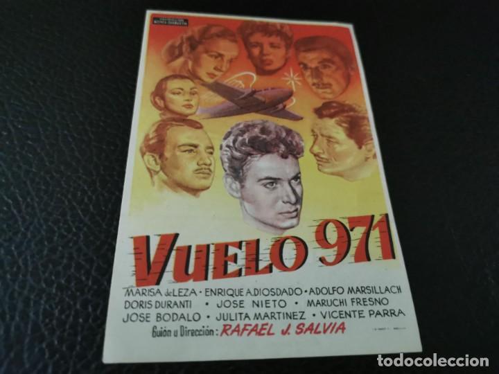 PROGRAMA DE MANO ORIG - VUELO 971 - CINE DE ZARAGOZA (Cine - Folletos de Mano - Clásico Español)