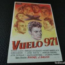 Cine: PROGRAMA DE MANO ORIG - VUELO 971 - CINE DE ZARAGOZA. Lote 210490761