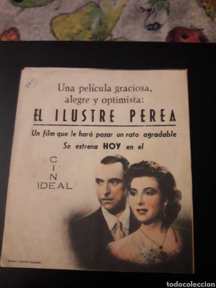 Cine: El Ilustre perea. Cine Ideal. Diptico. - Foto 2 - 210529705
