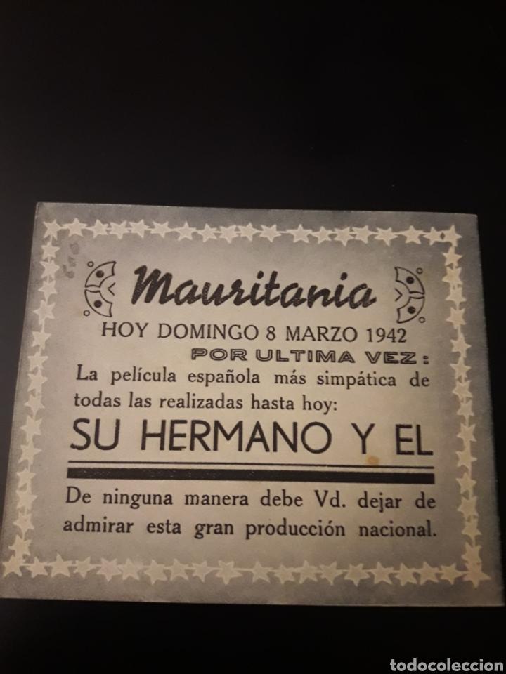Cine: Su hermano y el. Cine Mauritania. 1942. - Foto 2 - 210530286