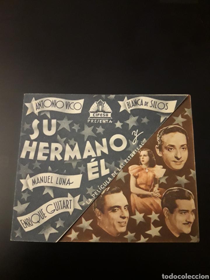 SU HERMANO Y EL. CINE MAURITANIA. 1942. (Cine - Folletos de Mano - Clásico Español)