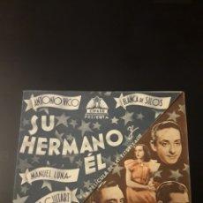 Cine: SU HERMANO Y EL. CINE MAURITANIA. 1942.. Lote 210530286