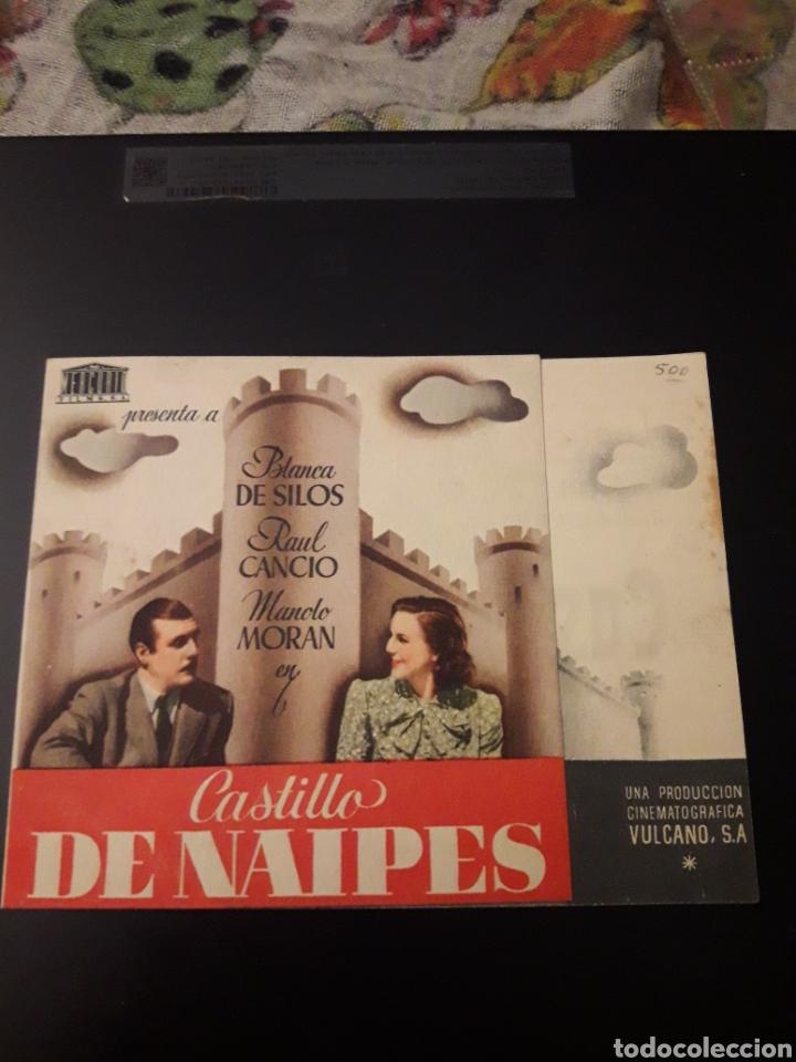 CASTILLO DE NAIPES. TEATRO CIRCO VILLAR. 1943. DIPTICO (Cine - Folletos de Mano - Clásico Español)