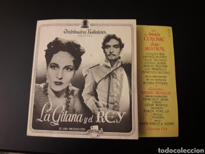 LA GITANA Y EL REY. TEATRO RIBADEO. DIPTICO (Cine - Folletos de Mano - Clásico Español)