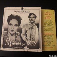 Cine: LA GITANA Y EL REY. TEATRO RIBADEO. DIPTICO. Lote 210531868