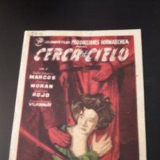 Cine: CERCA DEL CIELO. SALÓN MIRAMAR.. Lote 210534762