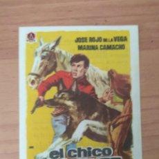 Cine: PROGRAMA DE CINE ..EL CHICO VALIENTE C/T. Lote 210579476