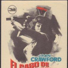 Cine: PROGRAMA SENCILLO DE EL CASO DE LUCY HARBIN (1964) - CINE LYS DE LA VALL D'UIXÒ. Lote 210600863