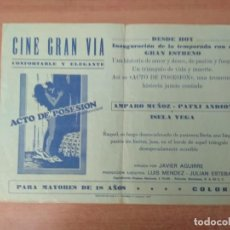 Folhetos de mão de filmes antigos de cinema: PROGRAMA DE CINE .ACTO DE POSESION. Lote 210608110