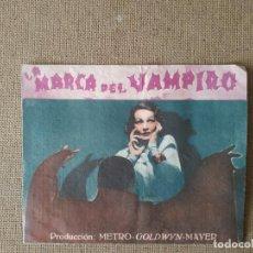 Cine: PROGRAMA DE CINE DOBLE. LA MARCA DEL VAMPIRO. BELA LUGOSI. CINE AL DORSO.. Lote 210666367