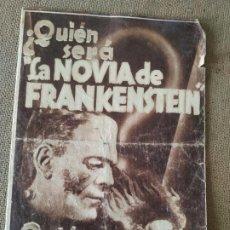 Cine: PROGRAMA DE CINE DOBLE. ¿ QUIEN SERÁ LA NOVIA DE FRANKENSTEIN ?. Lote 210667035