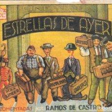 Cine: PN - PROGRAMA DE CINE - ESTRELLAS DE AYER - OLIVER HARDY, JAIMITO - CINE ALKAZAR (MÁLAGA) - 1943.. Lote 210670544