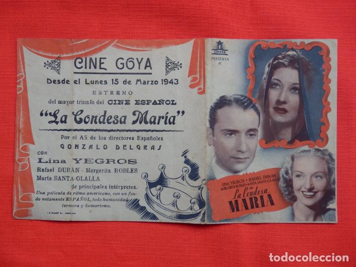 Cine: la condesa maria, doble, lina yergos, c/p cine goya, 1943 - Foto 3 - 210674502