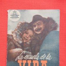 Cine: LA ESCUELA DE LA VIDA, DOBLE EXCTE. ESTADO, GUSTI HUBER, C/P RAMBLA. Lote 210675374