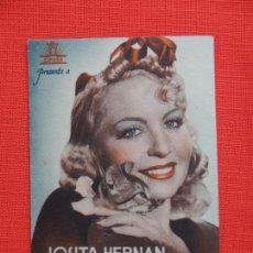 Cine: LA CHICA DEL GATO, DOBLE EXCTE. ESTADO, JOSITA HERNAN, C/P CINE PRINCIPE DE VIANA 1943. Lote 210677090