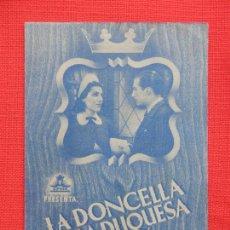Cine: LA DONCELLA DE LA PRINCESA, DOBLE AZUL, EXTE. ESTADO, CARMEN GRACIA, SIN PUBLICIDAD. Lote 210677547