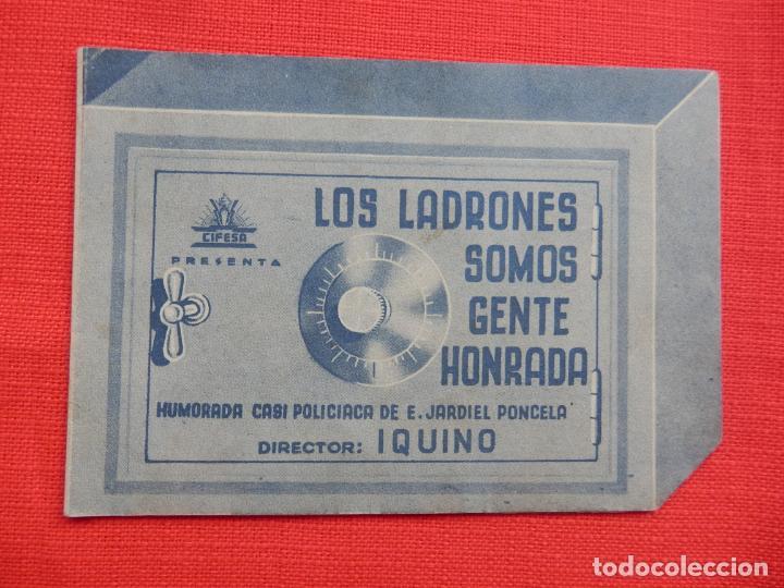 LOS LADRONES SOMOS GENTE HONRADA, DOBLE TROQUELADO, AMPARITO RIVELLES, SIN PUBLICIDAD (Cine - Folletos de Mano - Clásico Español)