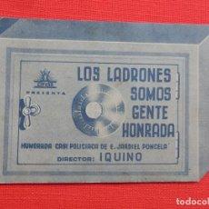 Cine: LOS LADRONES SOMOS GENTE HONRADA, DOBLE TROQUELADO, AMPARITO RIVELLES, SIN PUBLICIDAD. Lote 210678815