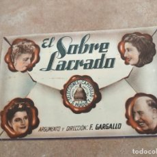 Cine: PROGRAMA DE CINE DOBLE. EL SOBRE LACRADO. CINE EN DORSO.. Lote 210726681