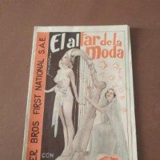 Cine: PROGRAMA DE CINE DOBLE. EL ALTAR Y LA MODA. CINE EN DORSO.. Lote 210759970