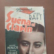 Cine: PROGRAMA DE CINE DOBLE. SUENA EL CLARIN. CINE EN DORSO.. Lote 210761301