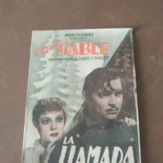 Cine: PROGRAMA DE CINE DOBLE. LA LLAMADA DE LA SELVA. CLARK GABLE. CINE EN DORSO.. Lote 210768802