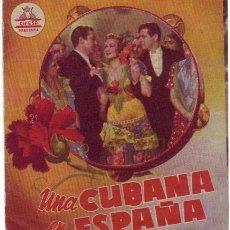 Cine: UNA CUBANA EN ESPAÑA DOBLE CON PUBLICIDAD. Lote 210814317