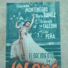 Cine: PROGRAMA DE CINE DOBLE. SALOMÉ. SELLO DE CINE EN DORSO.. Lote 210823174