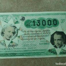 Cine: PROGRAMA DE CINE DOBLE. EL 13.000. CINE EN DORSO.. Lote 210823374