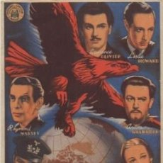 Foglietti di film di film antichi di cinema: PROGRAMA DE CINE: LOS INVASORES. SELLO CINE EN REVERSO PC-4675. Lote 210824702