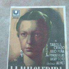 Cine: PROGRAMA DE CINE. LA MALQUERIDA. CINE EN DORSO.. Lote 210829655