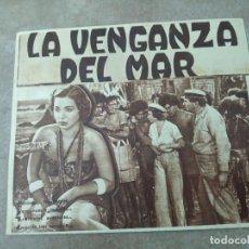 Cine: PROGRAMA DE CINE DOBLE. LA VENGANZA DEL MAR. CINE EN DORSO.. Lote 210830104